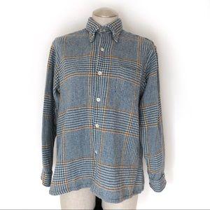Vintage Woolrich Plaid Crosshatch Pattern Size M